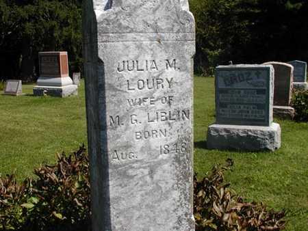 LOURY LIBLIN, JULIA M. - Jefferson County, Iowa | JULIA M. LOURY LIBLIN