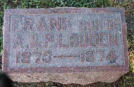 LOUDEN, FRANK - Jefferson County, Iowa | FRANK LOUDEN