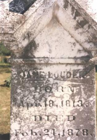 LOUDEN, JANE SPEER - Jefferson County, Iowa | JANE SPEER LOUDEN