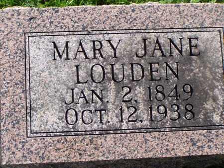LOUDEN, MARY JANE - Jefferson County, Iowa   MARY JANE LOUDEN