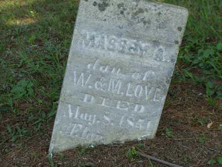 LOVE, MASSEY A. - Jefferson County, Iowa | MASSEY A. LOVE
