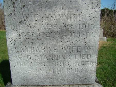 MANNING, CATHARINE - Jefferson County, Iowa | CATHARINE MANNING