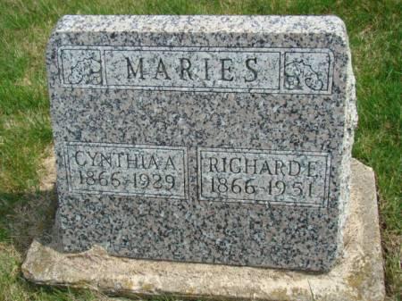 SHIPLER MARIES, CYNTHIA ANN - Jefferson County, Iowa   CYNTHIA ANN SHIPLER MARIES