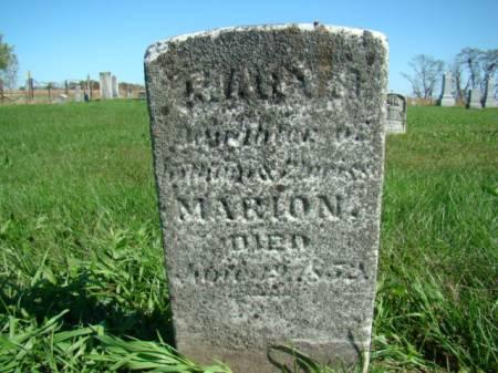 MARION, MARY - Jefferson County, Iowa   MARY MARION
