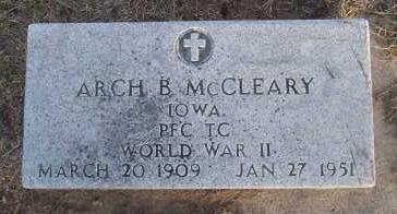 MCCLEARY, ARCH B. - Jefferson County, Iowa   ARCH B. MCCLEARY