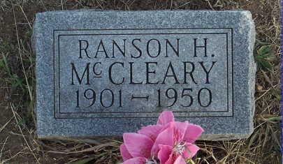 MCCLEARY, RANSON H. - Jefferson County, Iowa | RANSON H. MCCLEARY