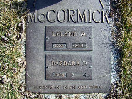 MCCORMICK, LELAND MAURICE - Jefferson County, Iowa | LELAND MAURICE MCCORMICK