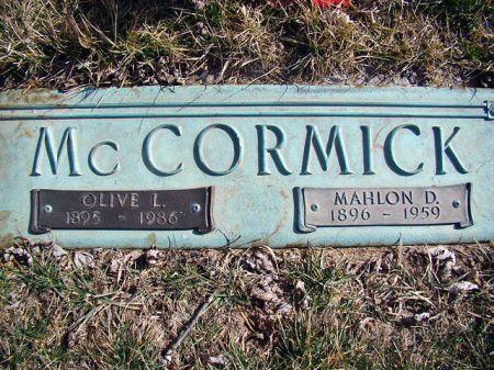 MCCORMICK, MAHLON DAVIS - Jefferson County, Iowa | MAHLON DAVIS MCCORMICK