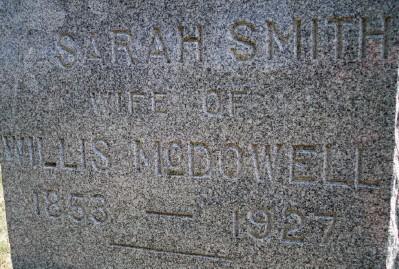 SMITH MCDOWELL, SARAH NAOMI - Jefferson County, Iowa   SARAH NAOMI SMITH MCDOWELL