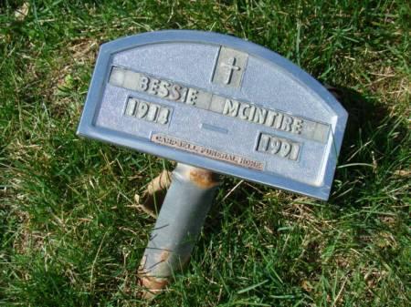 MCINTIRE, BESSIE - Jefferson County, Iowa | BESSIE MCINTIRE