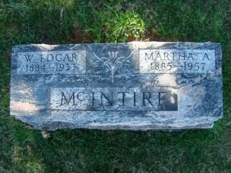 MCINTIRE, WALTER EDGAR - Jefferson County, Iowa   WALTER EDGAR MCINTIRE