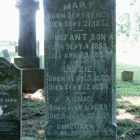 MCWHIRTER, MARY - Jefferson County, Iowa | MARY MCWHIRTER