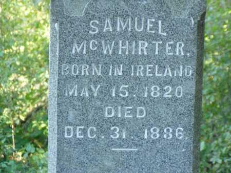 MCWHIRTER, SAMUEL - Jefferson County, Iowa | SAMUEL MCWHIRTER
