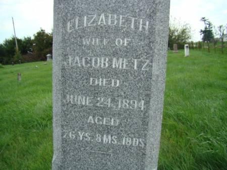 MCCORMICK METZ, ELIZABETH - Jefferson County, Iowa   ELIZABETH MCCORMICK METZ