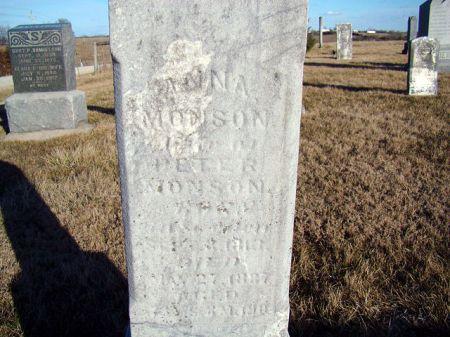 MONSON, ANNA - Jefferson County, Iowa   ANNA MONSON
