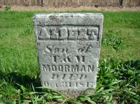 MOORMAN, ALBERT - Jefferson County, Iowa   ALBERT MOORMAN