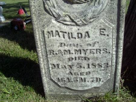 MYERS, MATILDA E - Jefferson County, Iowa | MATILDA E MYERS