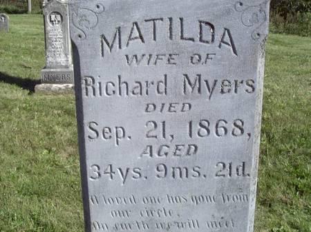 GAULT MYERS, MATILDA - Jefferson County, Iowa | MATILDA GAULT MYERS