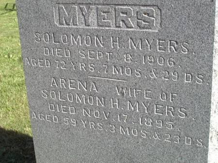 MYERS, SOLOMON H - Jefferson County, Iowa | SOLOMON H MYERS
