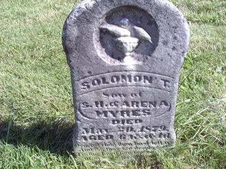 MYERS, SOLOMON T - Jefferson County, Iowa   SOLOMON T MYERS