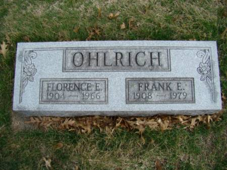 OHLRICH, FRANK E - Jefferson County, Iowa | FRANK E OHLRICH