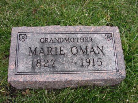 OMAN, MARIE - Jefferson County, Iowa   MARIE OMAN
