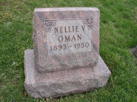 OMAN, NELLIE V - Jefferson County, Iowa | NELLIE V OMAN