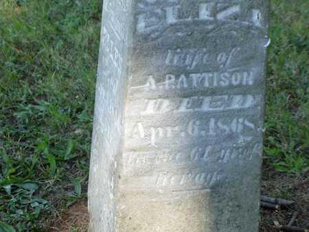 PATTISON, ELIZA - Jefferson County, Iowa | ELIZA PATTISON