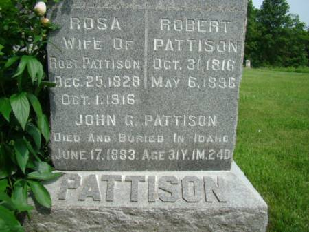 PATTISON, ROSA - Jefferson County, Iowa | ROSA PATTISON