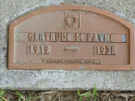 PAYNE, GERTRUDE M. - Jefferson County, Iowa | GERTRUDE M. PAYNE