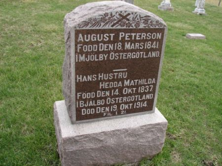 PETERSON, AUGUST - Jefferson County, Iowa   AUGUST PETERSON