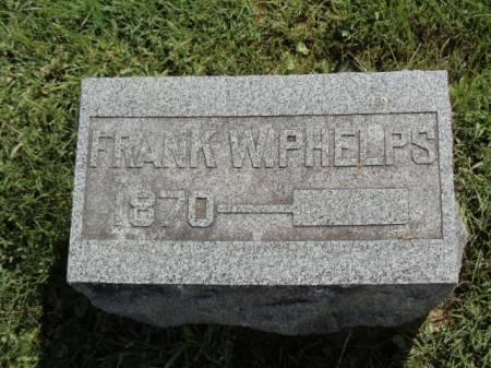 PHELPS, FRANK W - Jefferson County, Iowa   FRANK W PHELPS