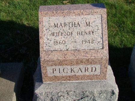 PICKARD, MARTHA M - Jefferson County, Iowa   MARTHA M PICKARD