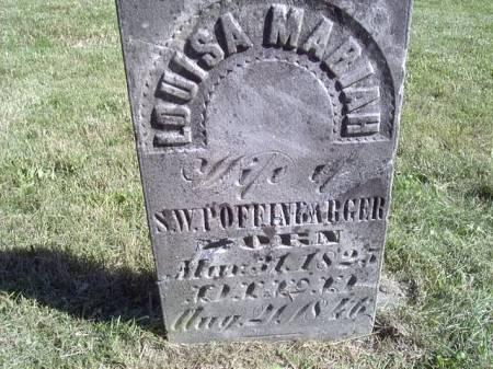POFFINBARGER, LOUISA MARIAH - Jefferson County, Iowa | LOUISA MARIAH POFFINBARGER