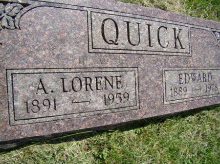 JOHNSON QUICK, ALMA LORENE - Jefferson County, Iowa | ALMA LORENE JOHNSON QUICK