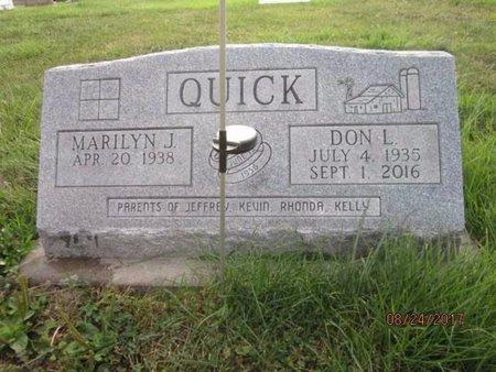 QUICK, DONALD 'DON' LEROY - Jefferson County, Iowa | DONALD 'DON' LEROY QUICK
