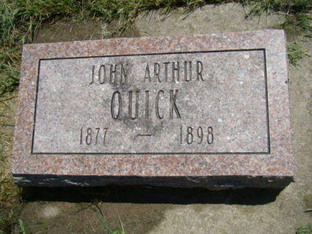 QUICK, JOHN ARTHUR - Jefferson County, Iowa   JOHN ARTHUR QUICK