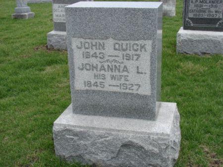 QUICK, JOHN N - Jefferson County, Iowa   JOHN N QUICK