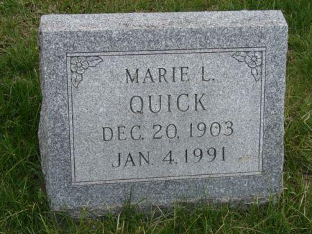 QUICK, MARIE L - Jefferson County, Iowa   MARIE L QUICK