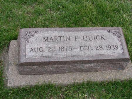 QUICK, MARTIN F - Jefferson County, Iowa   MARTIN F QUICK