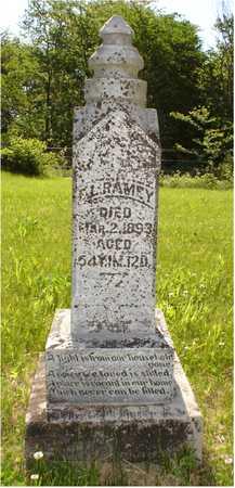 RAMEY, ERASTUS LEVI - Jefferson County, Iowa | ERASTUS LEVI RAMEY