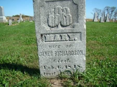 RICHARDSON, MARY - Jefferson County, Iowa | MARY RICHARDSON
