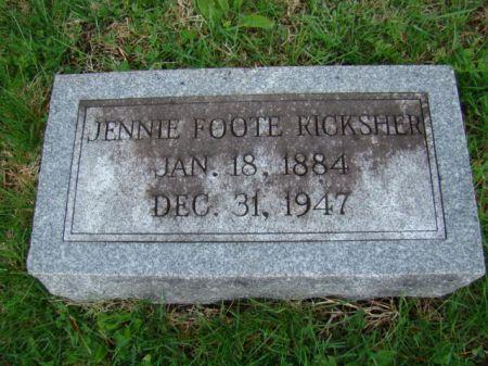 RICKSHER, JENNIE ETHEL - Jefferson County, Iowa   JENNIE ETHEL RICKSHER