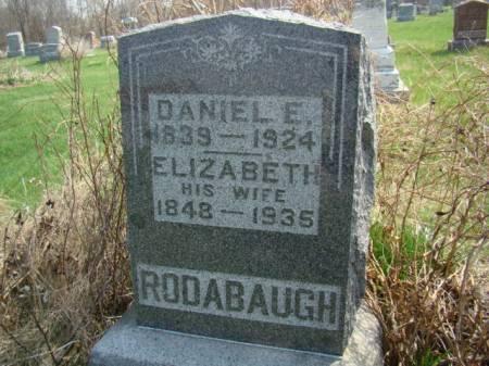 GLOTFELTY RODABAUGH, ELIZABETH - Jefferson County, Iowa   ELIZABETH GLOTFELTY RODABAUGH