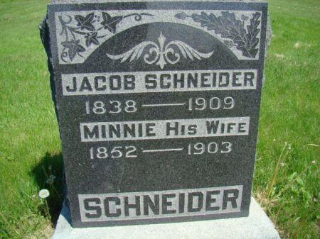 SCHNEIDER, MINNIE - Jefferson County, Iowa   MINNIE SCHNEIDER