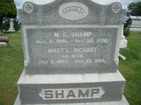 RICHART SHAMP, MARY L - Jefferson County, Iowa   MARY L RICHART SHAMP