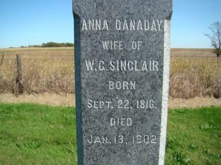 CANADAY SINCLAIR, ANNA - Jefferson County, Iowa | ANNA CANADAY SINCLAIR