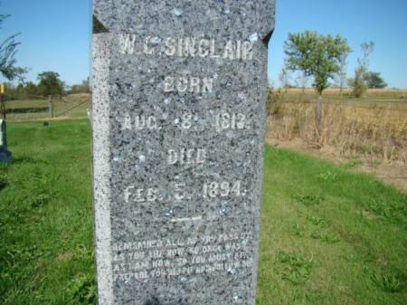 SINCLAIR, WILLIAM G - Jefferson County, Iowa | WILLIAM G SINCLAIR