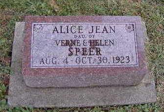 SPEER, ALICE JEAN - Jefferson County, Iowa | ALICE JEAN SPEER