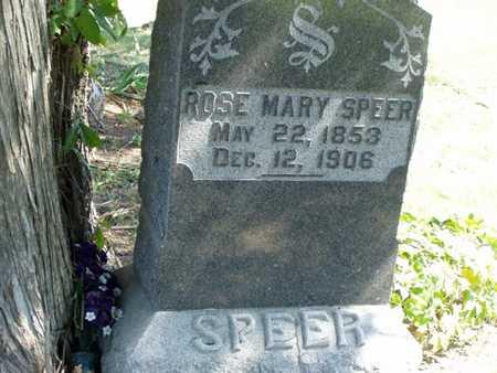 SPEER, ROSE MARY - Jefferson County, Iowa | ROSE MARY SPEER
